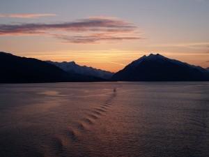 Glacier Bay Sunset Alaska Glacier National Park