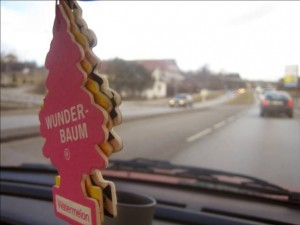 You can't hang air-fresheners from your rearview mirror in many U.S states