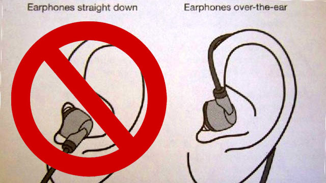 Putting on your earphones