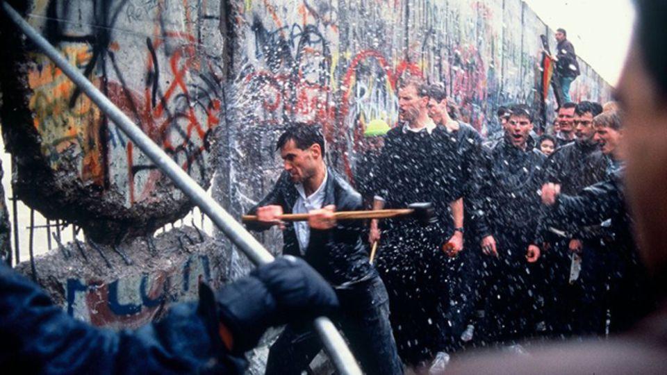 The wall had graffiti