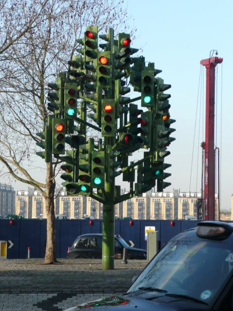 The Traffic Light Tree, London, UK