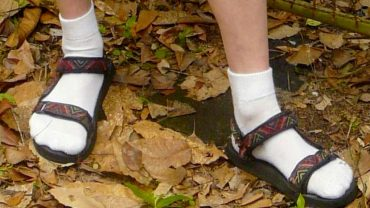 Wearing socks with sandals