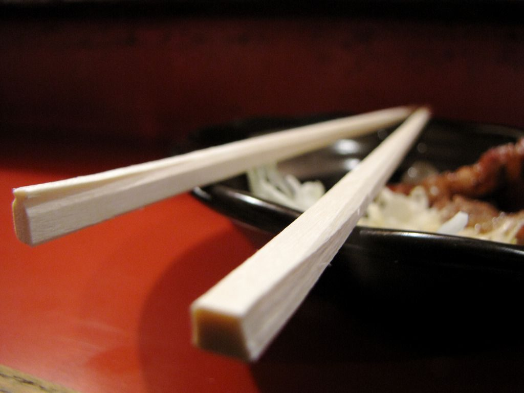 Position of chopsticks mean something too