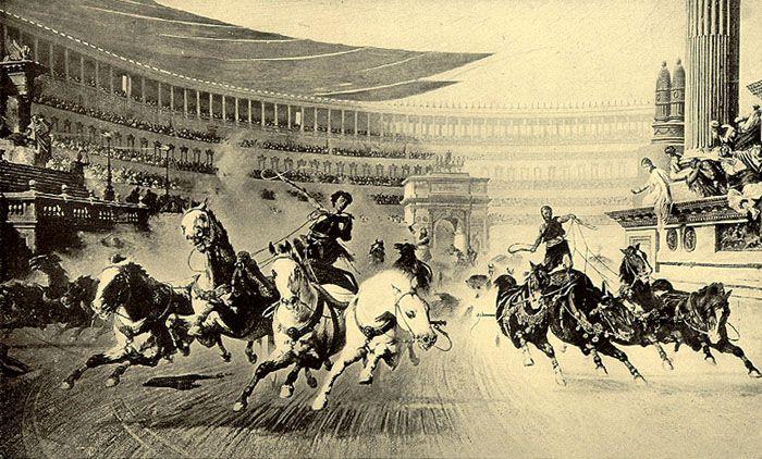 Gladiators or chariot racing